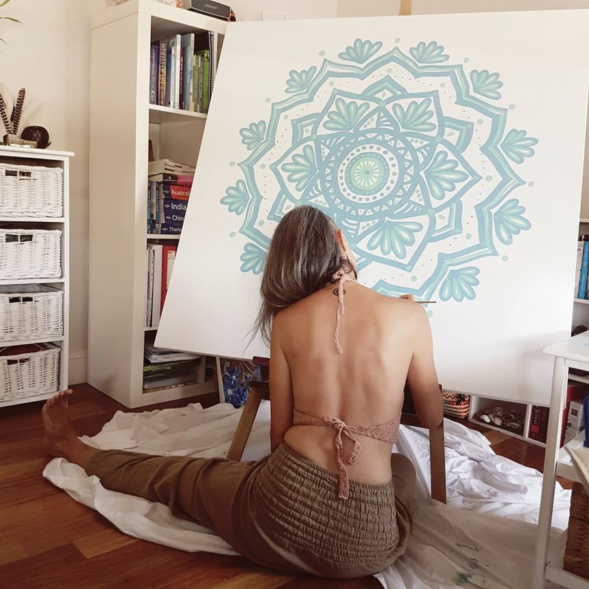 Mandala on canva for private home