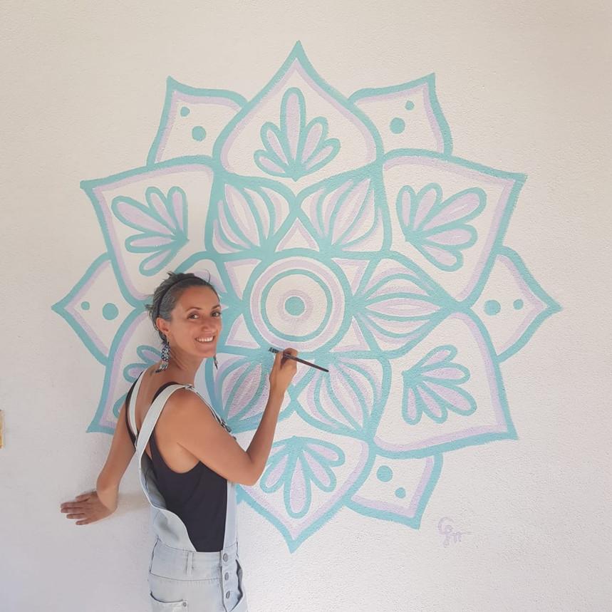 Mandala mural for Sunshine Baja, San Jose del Cabo, Mexico