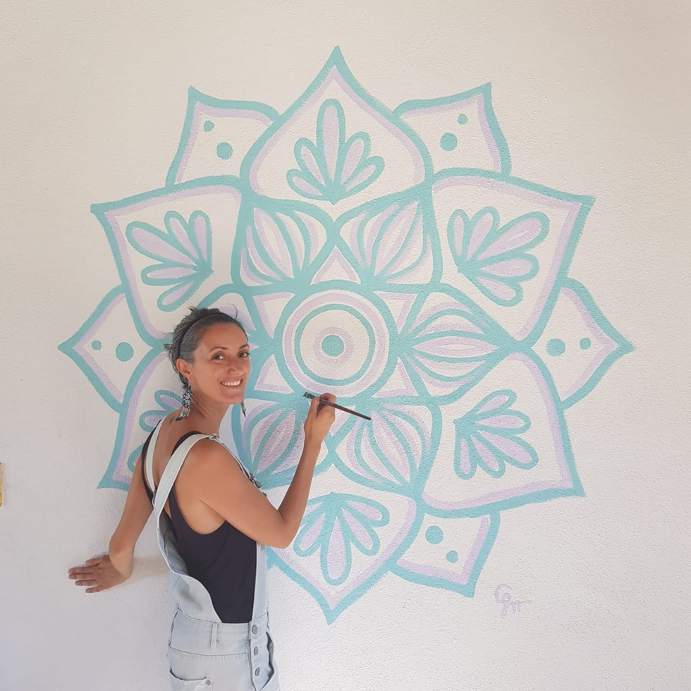 Mandala mural for Sunshine Baja, San Jose del Cabo, Mexico