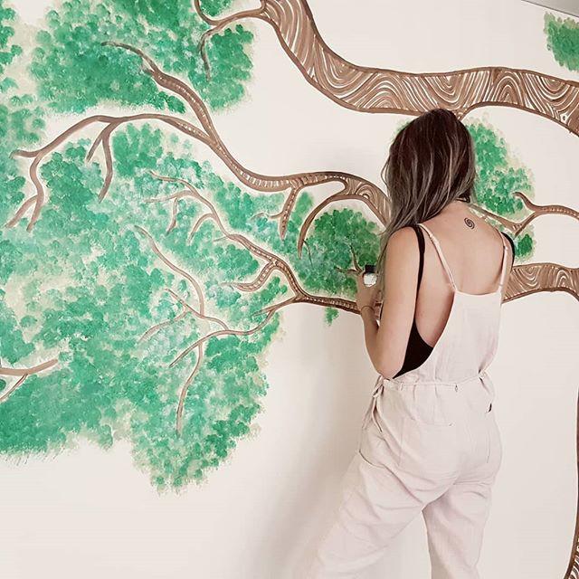 Mural for HYA yoga Miranda in Sydney