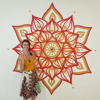 Mandala mural for a yoga studio in Merida, Mexico