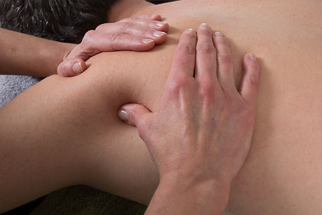 Man having a back chinese massage