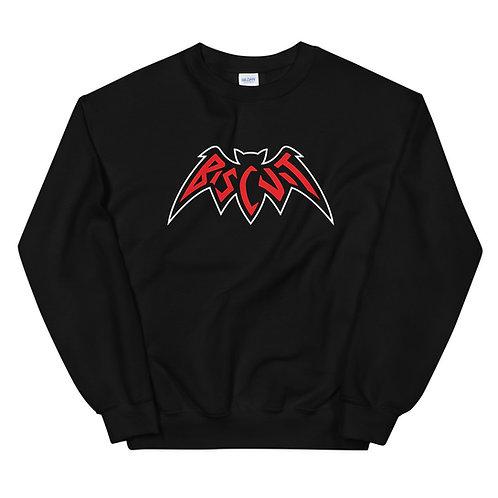 Bat BLK Crewneck