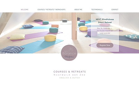 website & design Inbalance Mindfulness