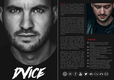 Press kit for DJ DVICE