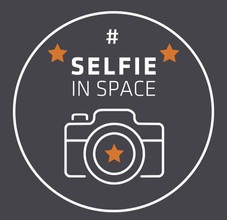 #SelfieInSpace logo