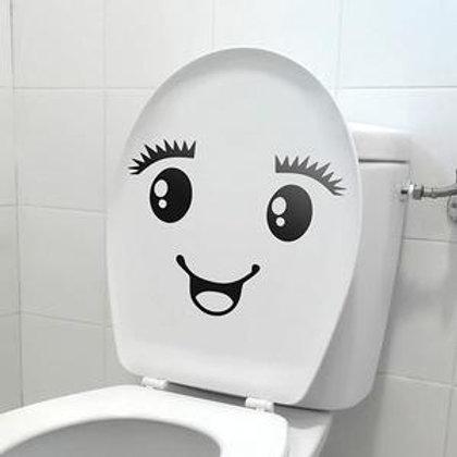 Vinilo decorativo para baños Sonrisa WC
