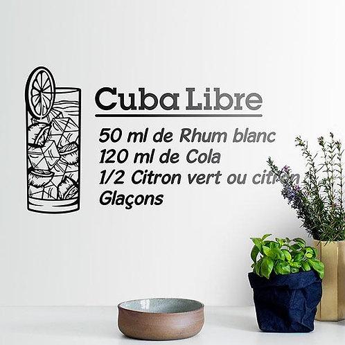 Vinilo decorativo Cocktail Cuba Libre - francés