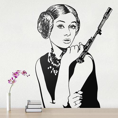 Vinilo decorativo Audrey Leia