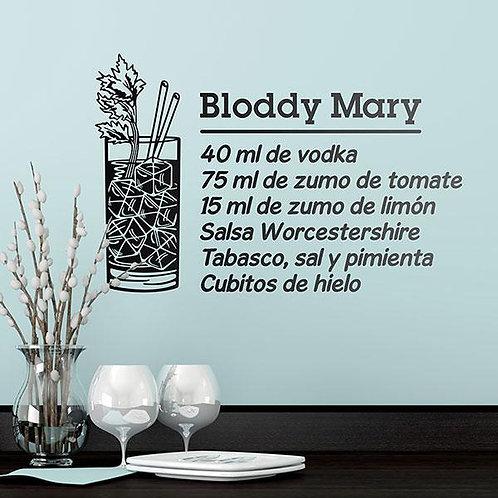 Vinilo decorativo Cocktail Bloddy Mary - español