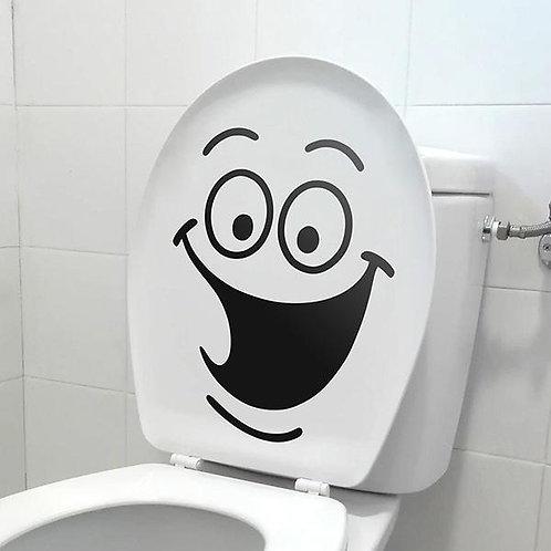 Vinilo decorativo para baños Carcajada WC