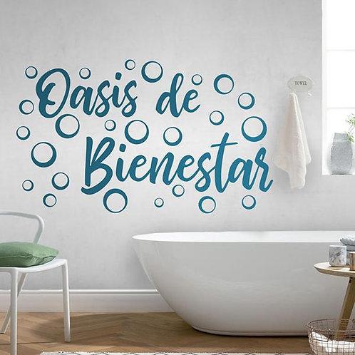 Vinilo decorativo para baños Oasis de Bienestar