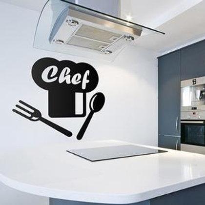 Vinilo para cocina Chef