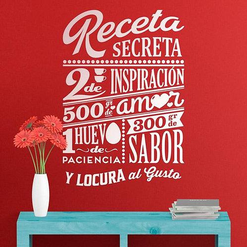 Vinilo decorativo para cocina Receta Secreta