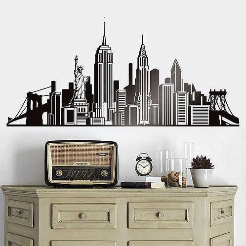 Vinilo decorativo Skyline de Nueva York