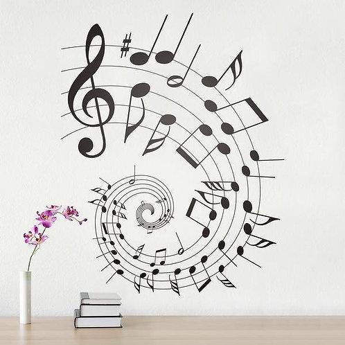 Vinilo de música partitura o pentagrama en espiral Armony