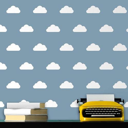 Kit de 12 vinilos de motivos de estampado de nubes