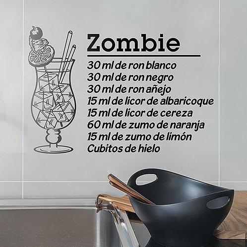Vinilo decorativo Cocktail Zombie - español