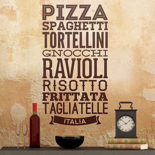 Vinilo para cocina Gastronomía de Italia