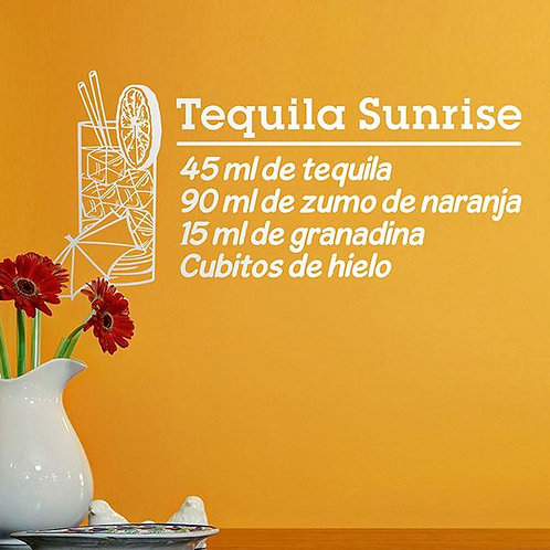 Vinilo decorativo Cocktail Tequila Sunrise - español