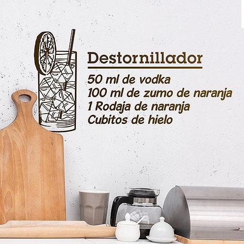 Vinilo decorativo Cocktail Destornillador - español