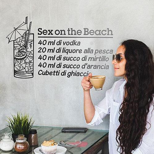 Vinilo decorativo Cocktail Sex on the Beach - italiano