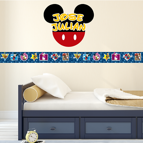 Paquete Mickey Mouse con Nombre Personalizado
