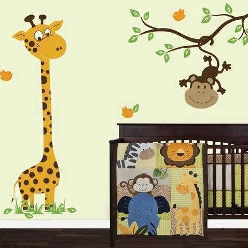 Set de Girafa y monito