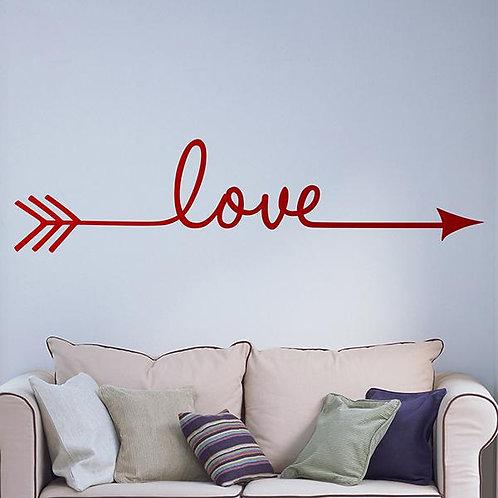 Vinilo decorativo Flecha Love