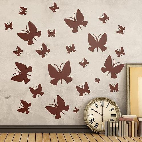 Vinilos decorativo Kit 24 Mariposas