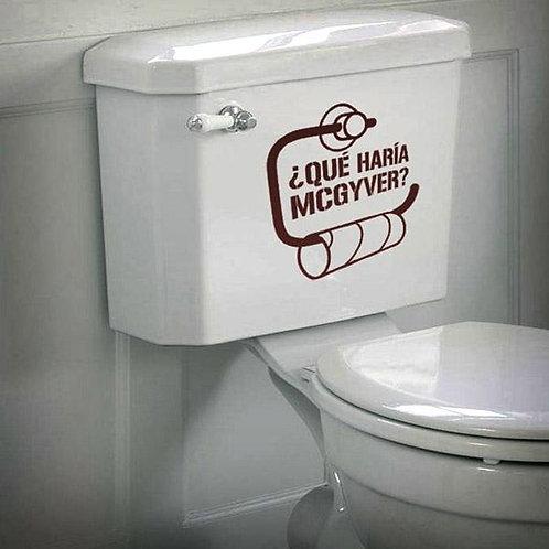 Vinilo para el baño ¿Qué haría Macgyver sin papel?