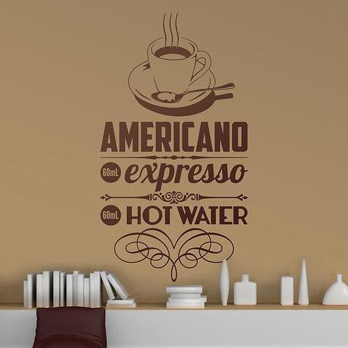 Vinilo decorativo Café Americano