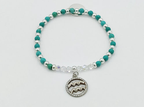 AQUARIUS Zodiac Bracelet 21st Jan - 20th Feb