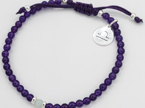 Libra Waxed Cotton Zodiac Bracelet (24/9-21/10)