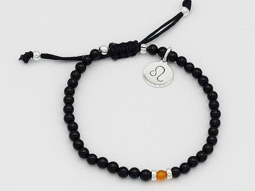 Leo Waxed Cotton Zodiac Bracelet (22/7-21/8)