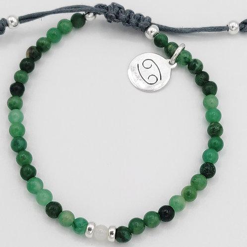Cancer Waxed Cotton Zodiac Bracelet (21/6-21/7)