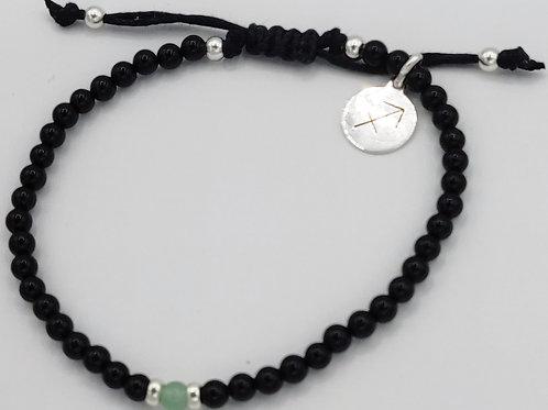 Sagittarius Waxed Cotton Zodiac Bracelet (21/11-21/12)