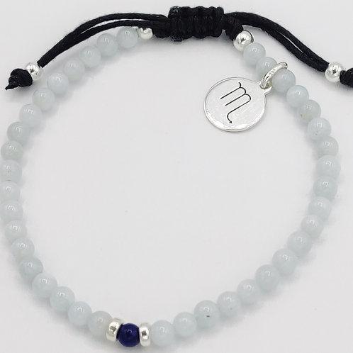 Scorpio Waxed Cotton Zodiac Bracelet (22/10-20/11)