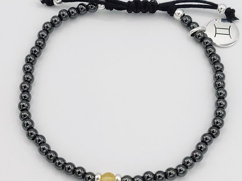 Gemini Waxed Cotton Zodiac Bracelet (22/5-20/6)