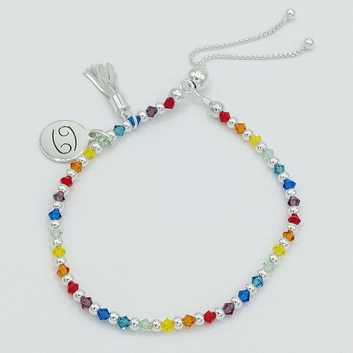 Miniature Crystal Rainbow Zodiac Bracelet