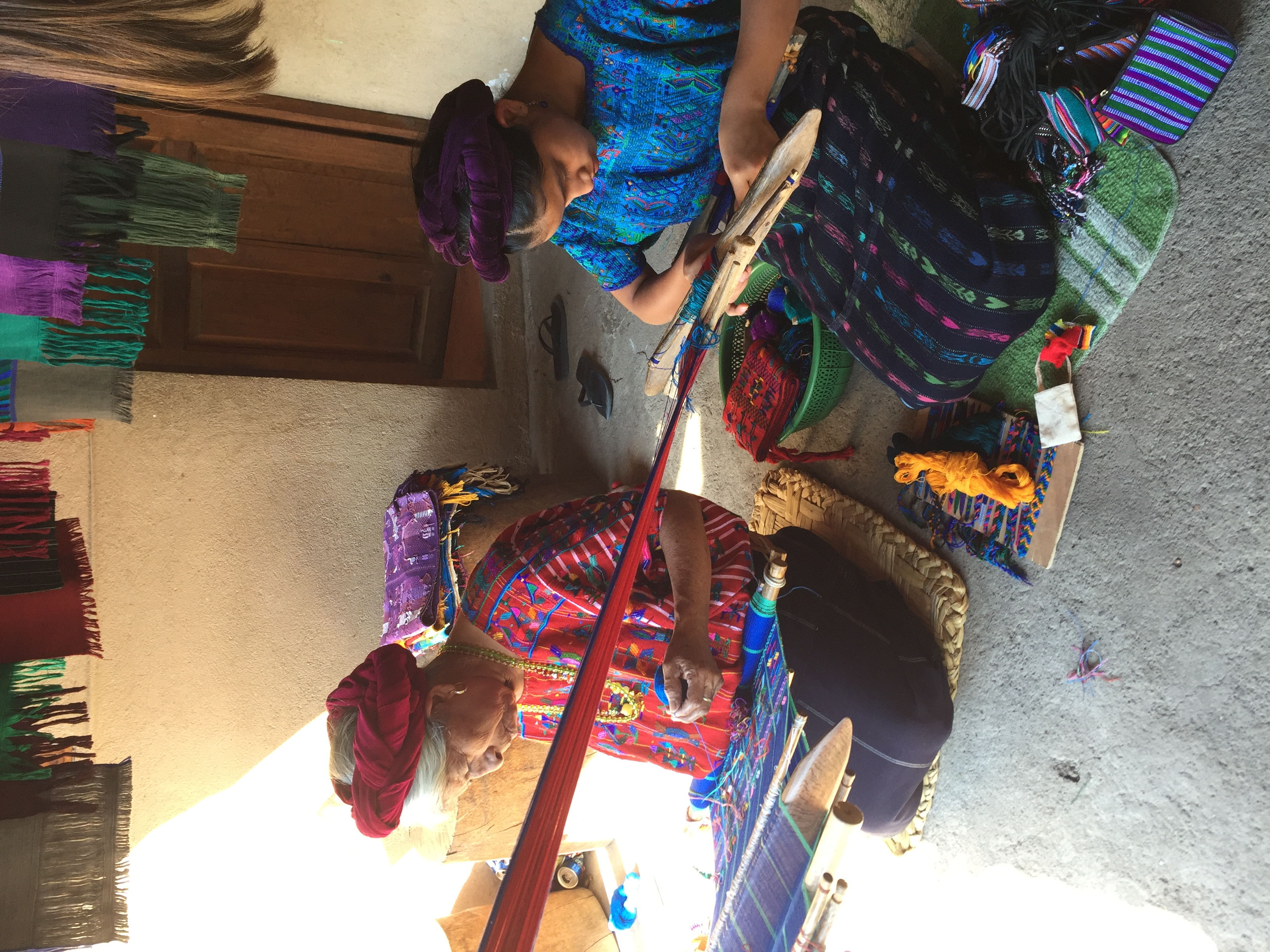 Ladies Weaving in Santa Catarina