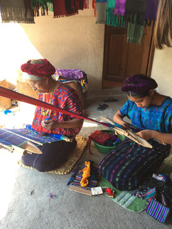 Ladies Weaving in Santa Catarina