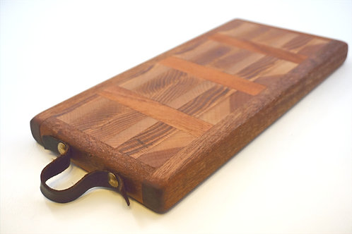 Leather And Wood Cutting Board