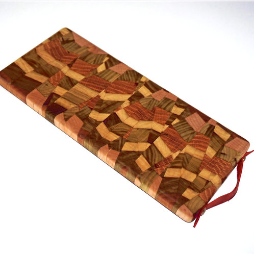 Red Strap Chaotic Cutting Board