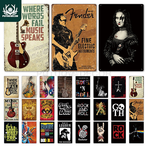 Rock & Roll Tin Signs