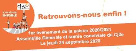 24 Septembre 2020 - Assemblée Générale et soirée du Cj2e