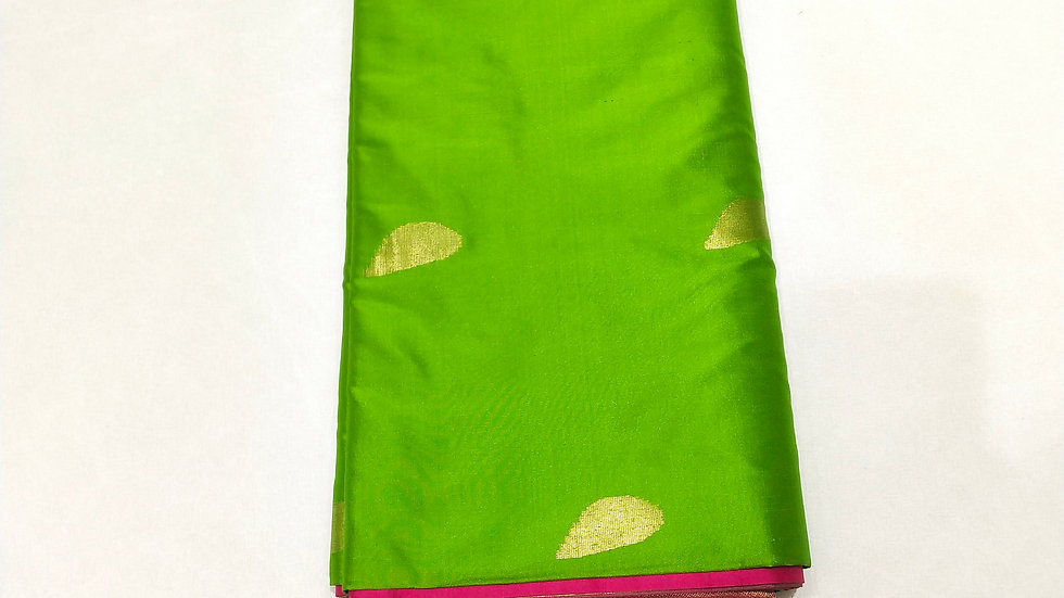 Pure Soft Silk Parrot Green