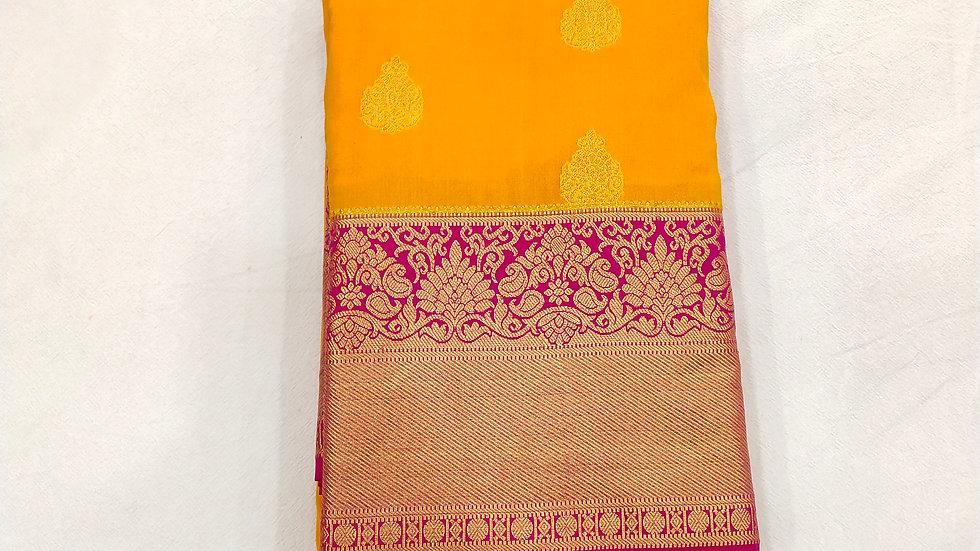 Saree Mango Color