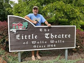 Theatre sign repainted & installed with