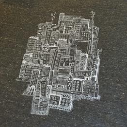 City  1 color print